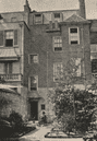 CHELSEA: Carlyle's House, 24 Cheyne Row. Back Court (1857) . Nero. SMALL;1900